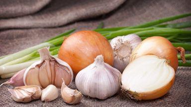 Кромидът и чесънът намаляват риска от рак на дебелото черво