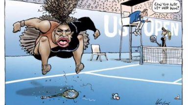 Оправдаха автора на карикатурата, разгневила Серина Уилямс