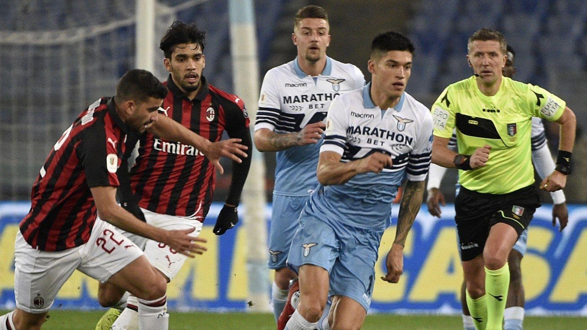 Лацио изпусна Милан, головете ще са в реванша