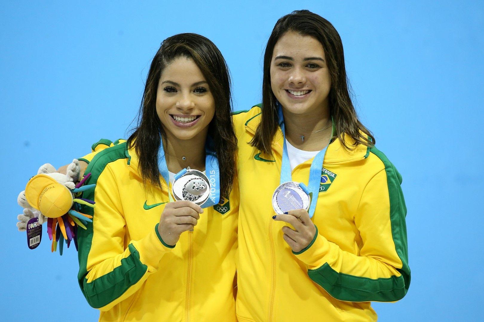 Ингрид Оливейра (вляво) и Джована Педроза, втори на Панамериканските игри година преди Рио 2016