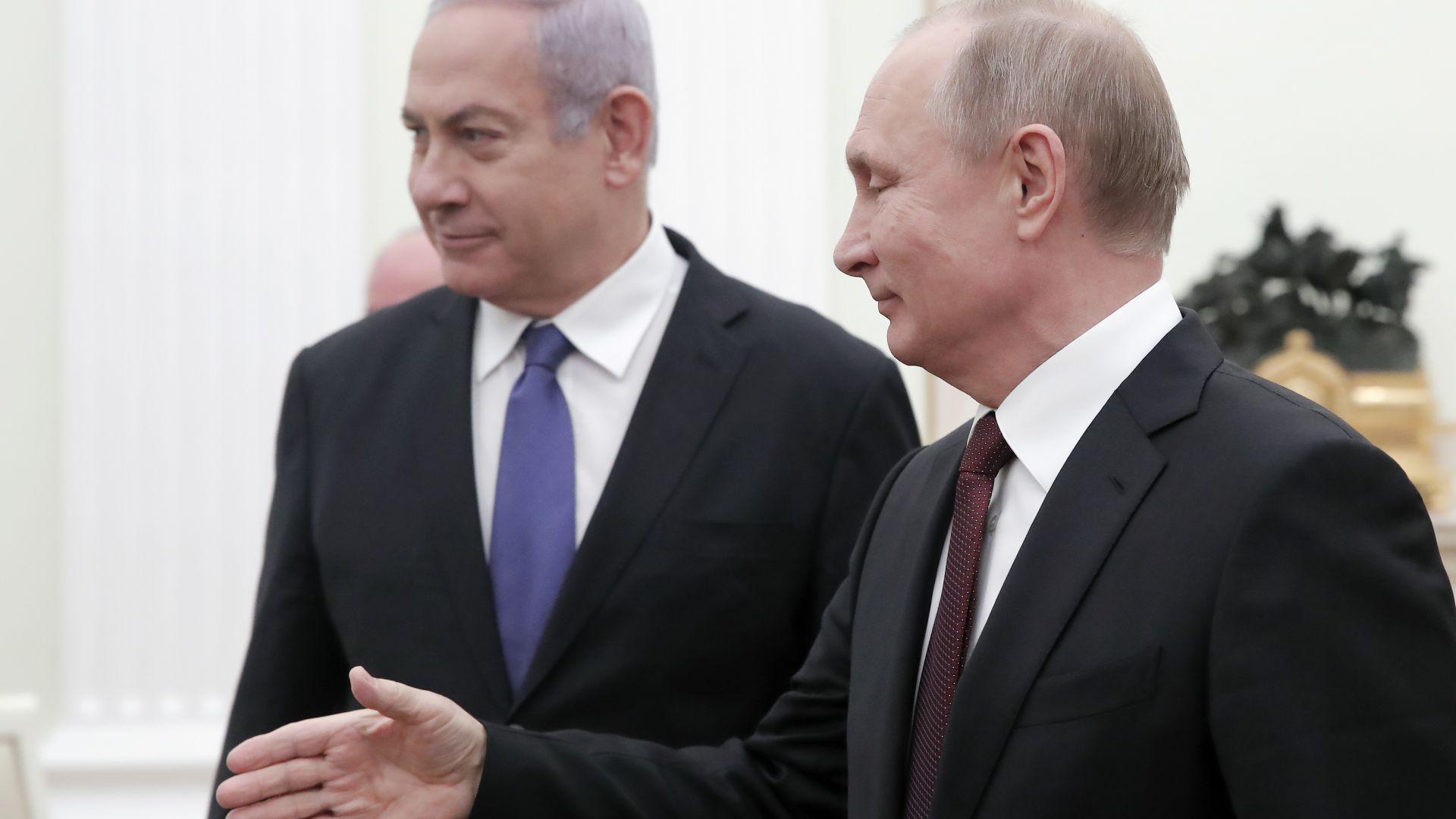 Путин и Нетаняху обсъдиха в Кремъл ситуацията в Сирия