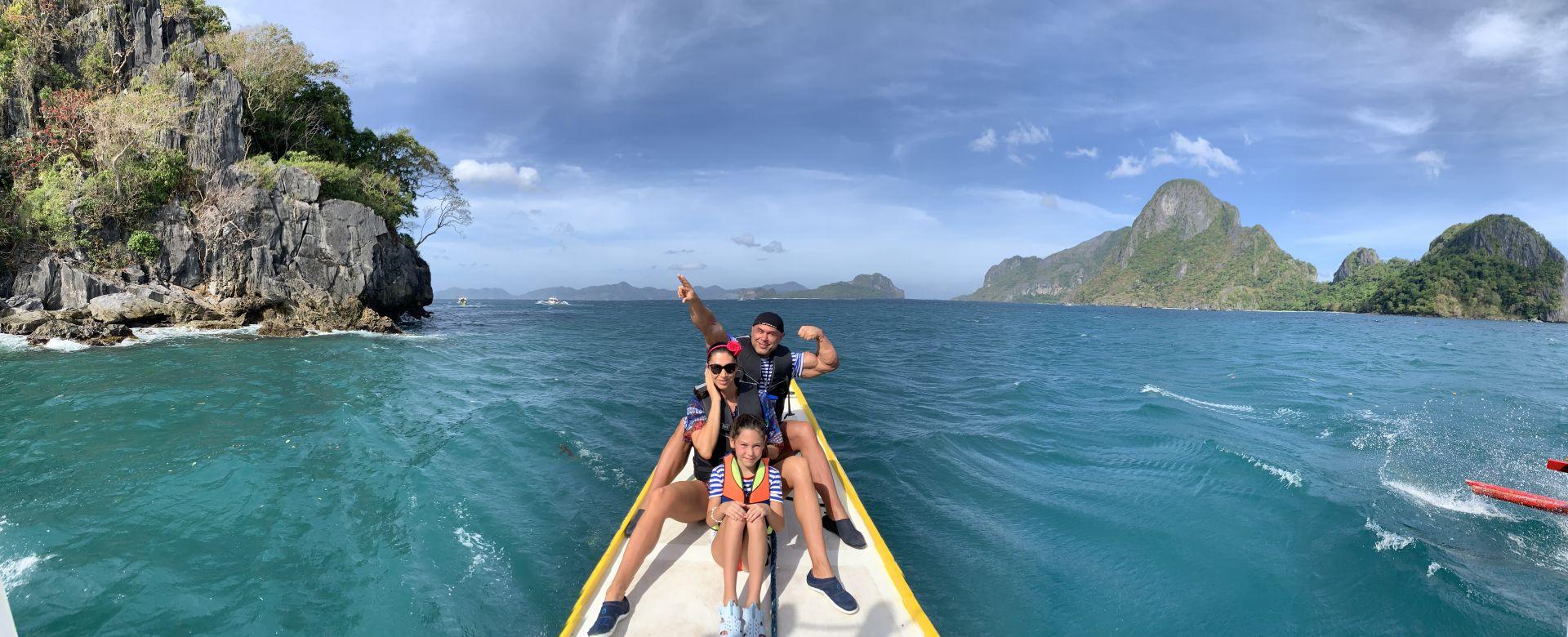 Димитър, Биляна и Никол на Филипините