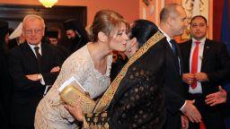 Десислава Радева елегантна в екрю на приема за Трети март