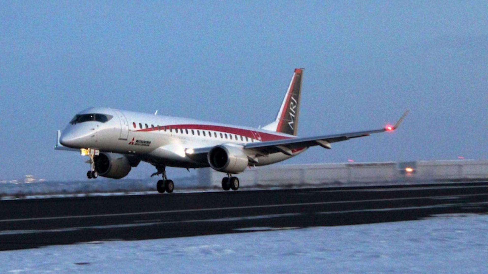 В САЩ започнаха изпитанията на японски пътнически самолет на Мицубиши