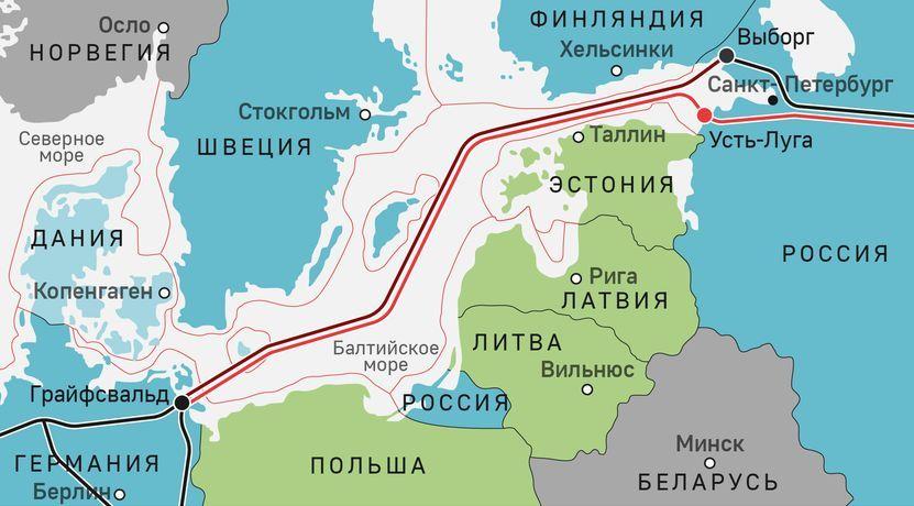 """Маршрутът на """"Северен поток 2"""""""