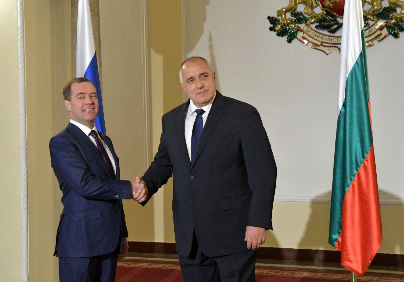 През март Бойко Борисов посрещна Дмитрий Медведев в София
