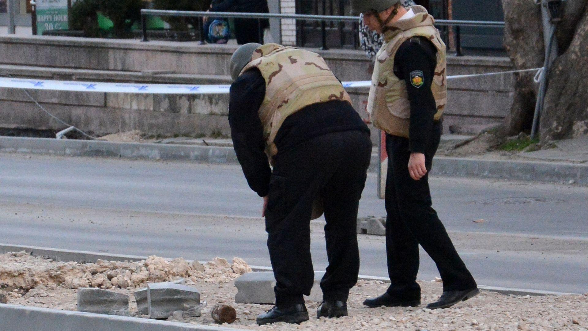 Във Варна откриха бомба при ремонт на булевард