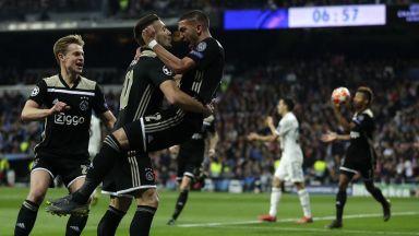 Краят на една ера: Невероятен Аякс разби Реал насред Мадрид