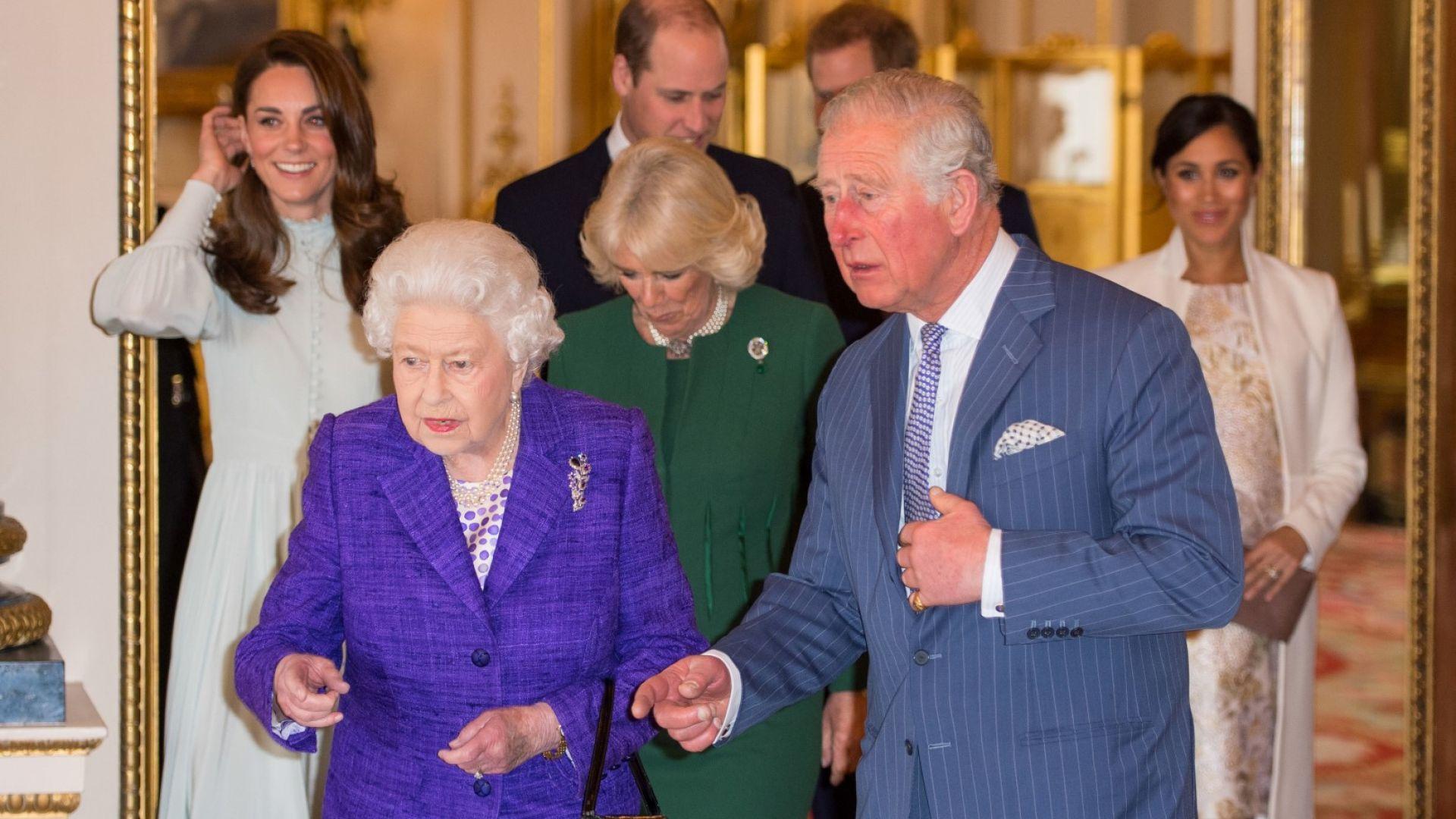 Меган и Катрин елегантни на приема на кралицата в чест на принц Чарлз