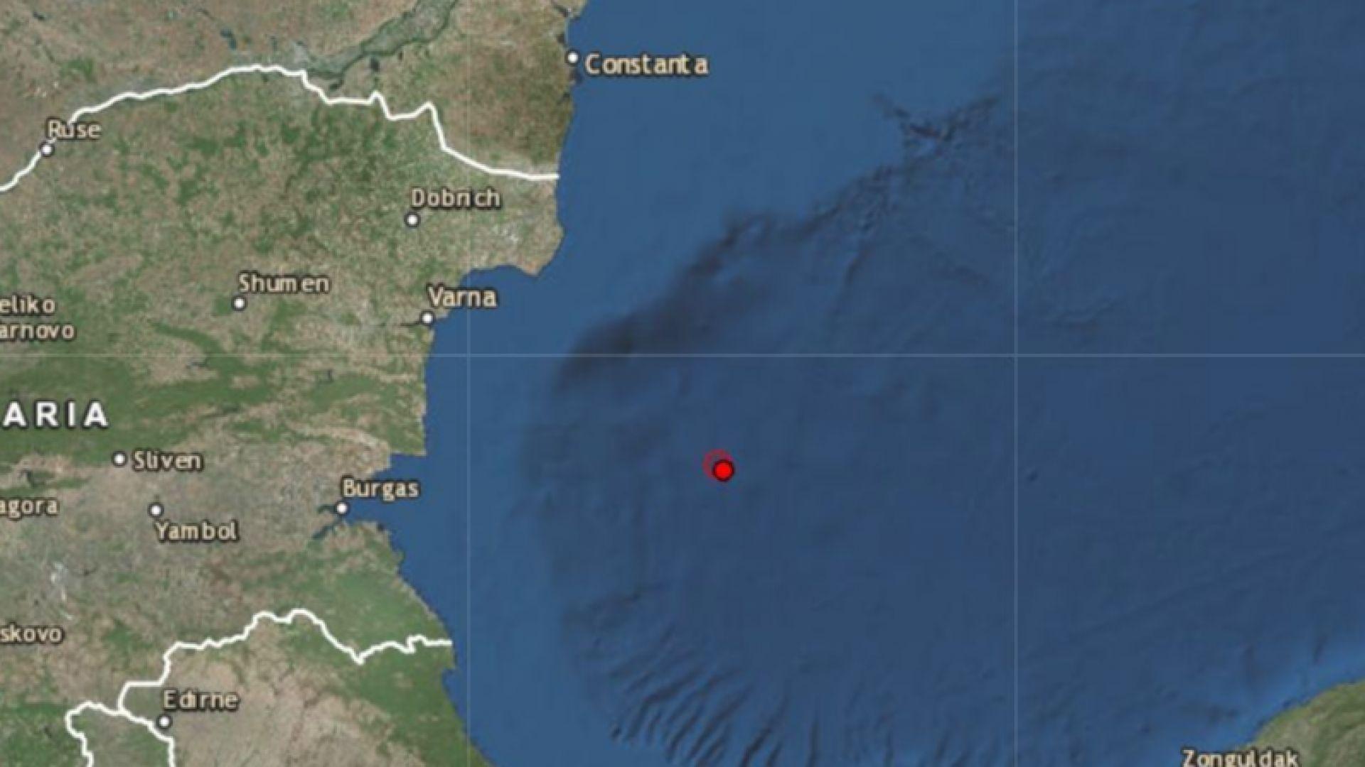 3,4 по Рихтер в Черно море