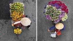 Поглед отгоре: Уличните търговки на Ханой, заснети с любов