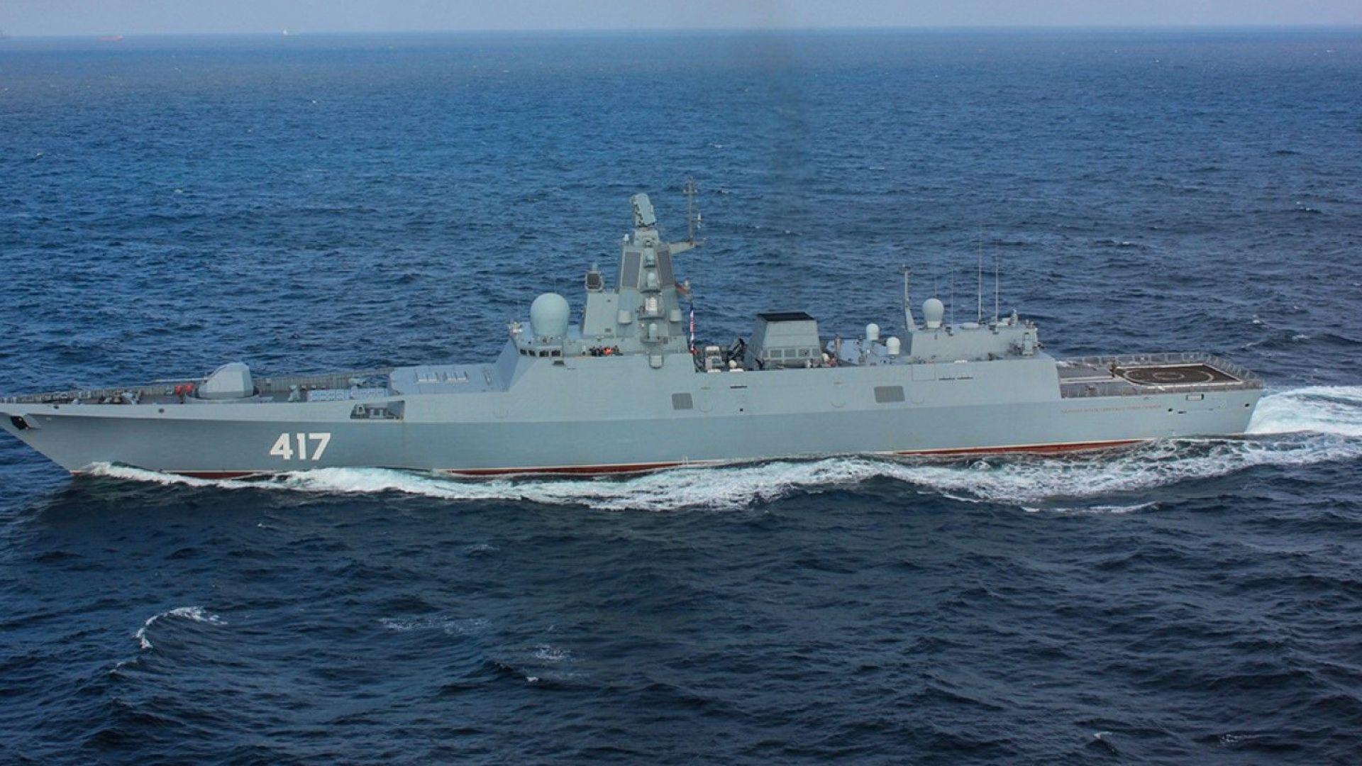 Британски боен кораб следи движението на руска военноморска група
