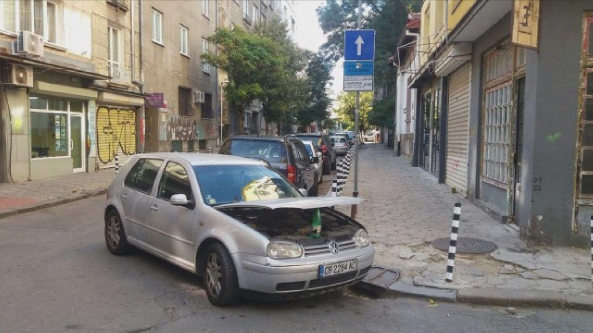 Шофьори масово спират в нарушение извън платените места в София