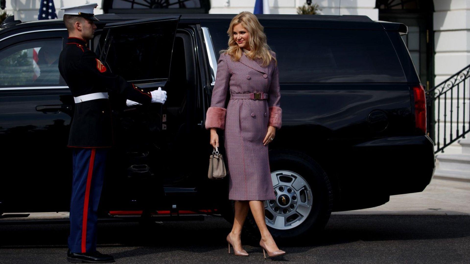 Премиершата на Чехия се опита да засенчи Мелания в Белия дом