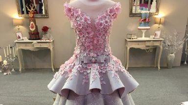 Удивителна сватбена торта - двойник на булчинска рокля