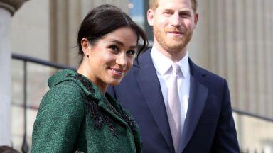 Меган дари принц Хари със син