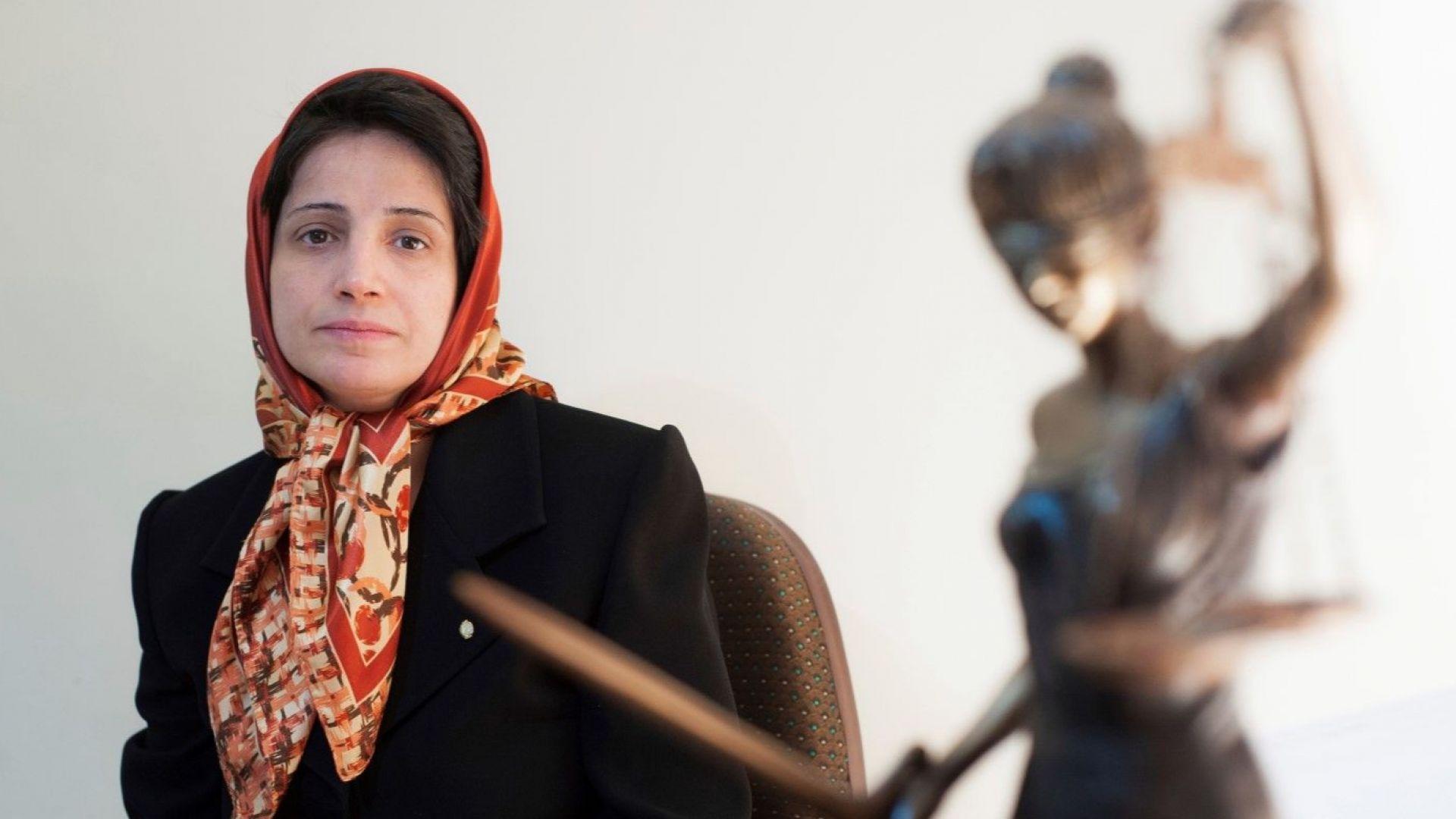Иранска адвокатка бе осъдена на 38 г. затвор и 148 удара с камшик