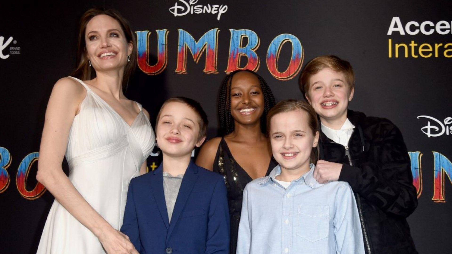 """Анджелина заведе децата на премиерата на """"Дъмбо"""""""