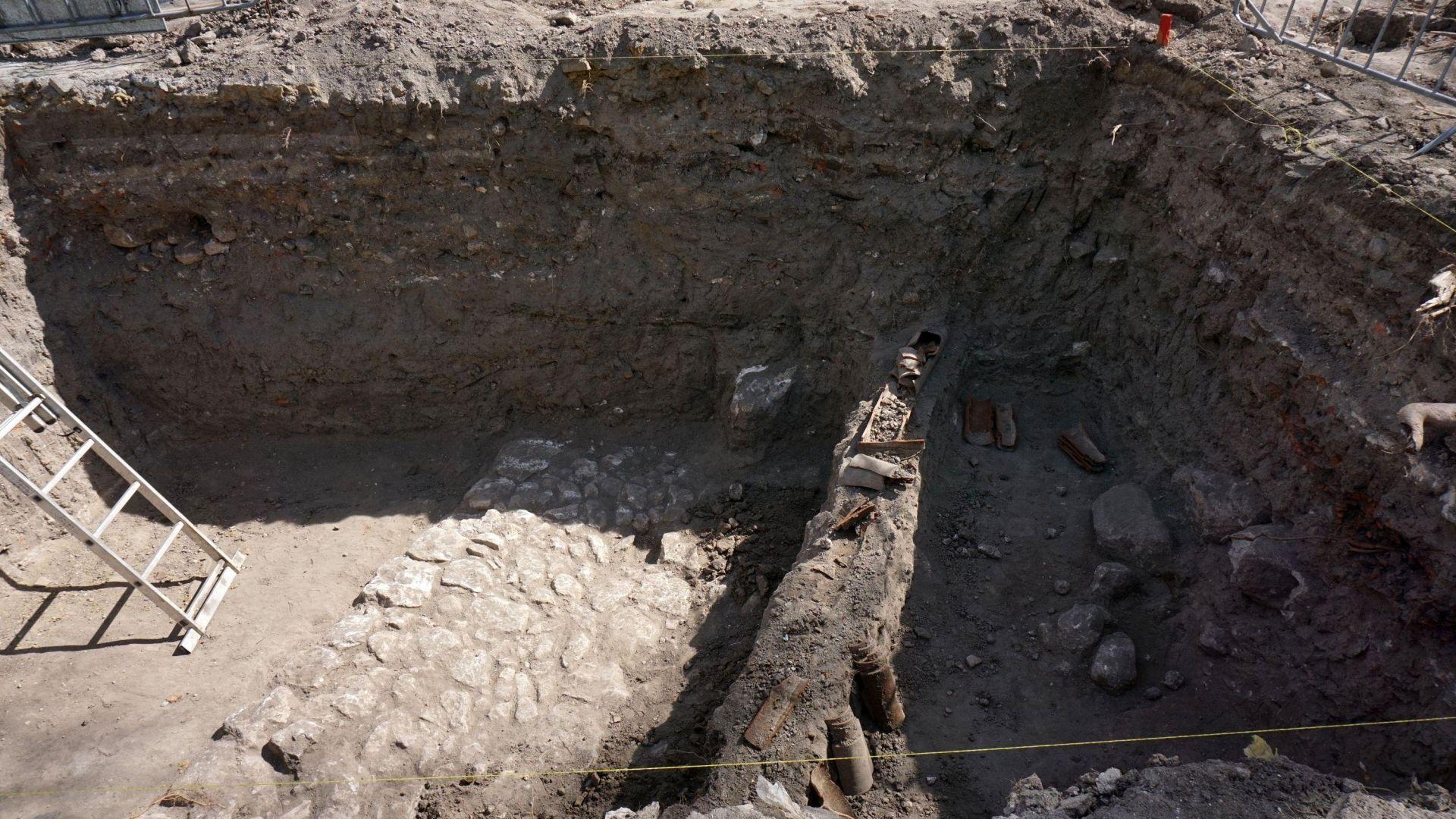 Под Шишковата градинка е открит османски път