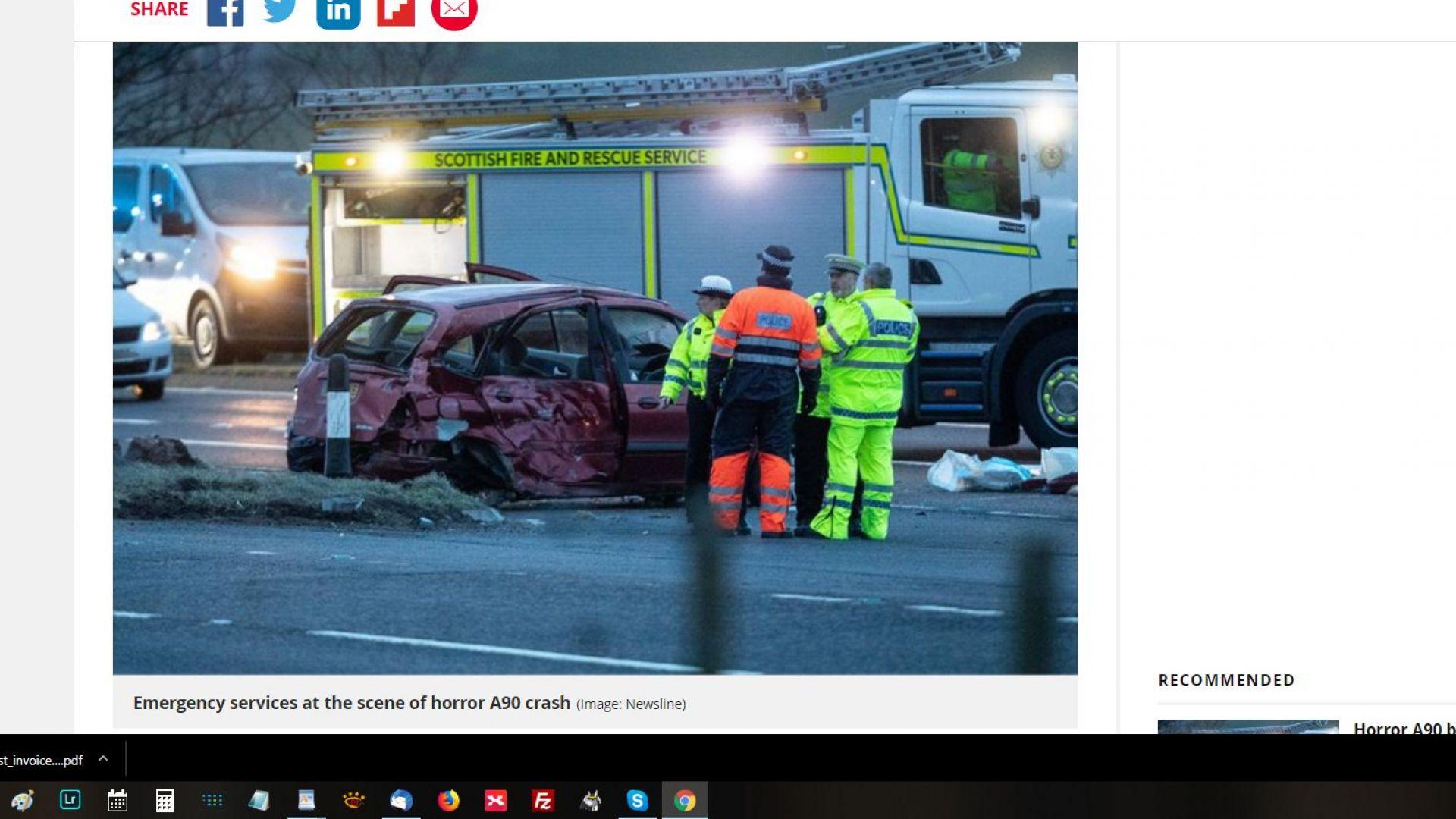 Трима българи загинаха при верижна катастрофа край Абърдийн (видео)