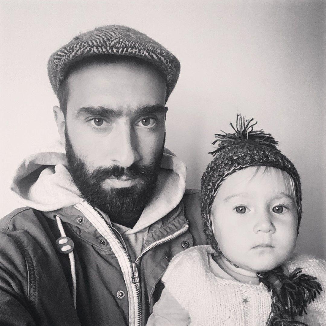 Иван с малката си дъщеря - Калина