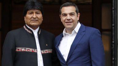 Президентът на Боливия Ево Моралес подкрепи Мадуро от Атина