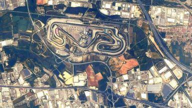 Астронавт засне пистите във Формула 1 от Космоса (галерия)