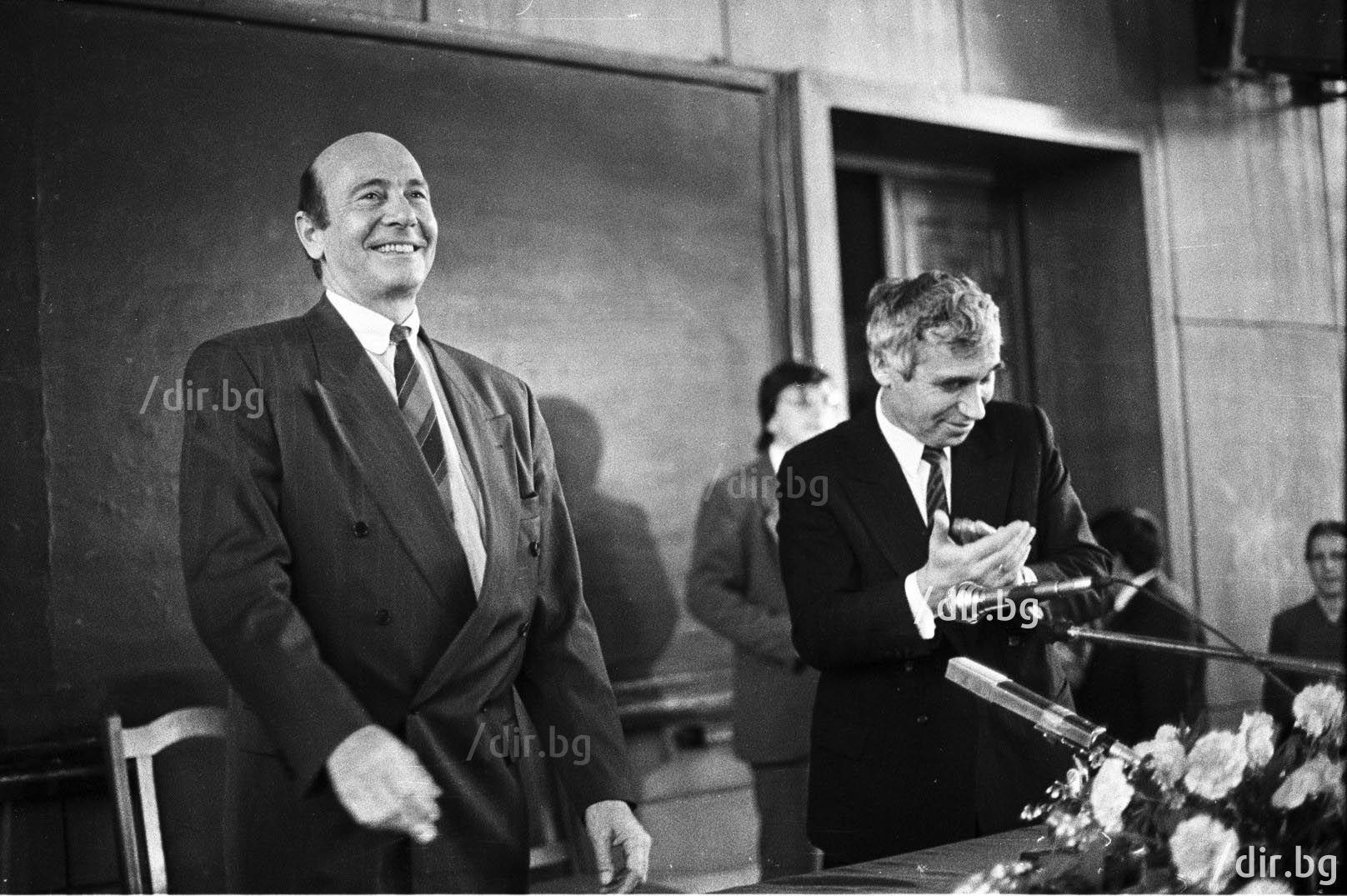 Генералният секретар на НАТО Манфред Вьорнер и президентът Желю Желев - 1991 г.
