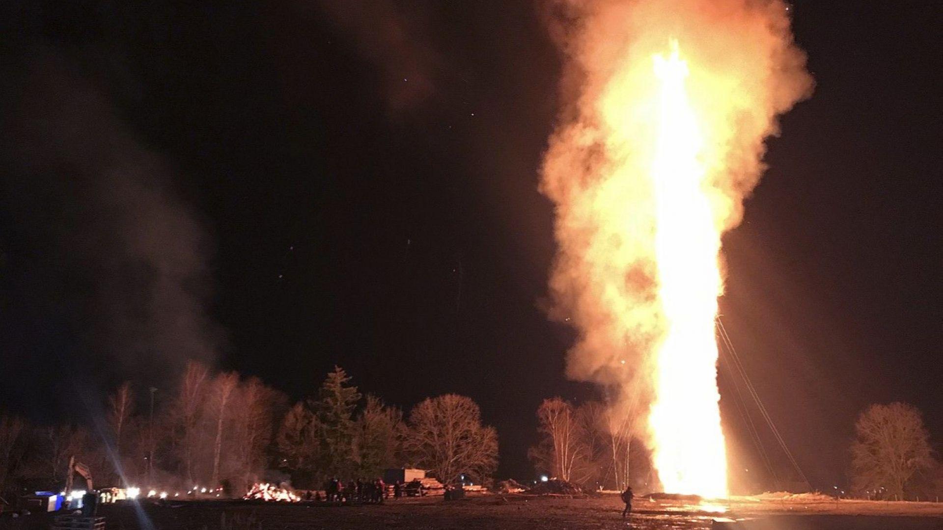 Най-високият огън на открито в света беше запален в Австрия