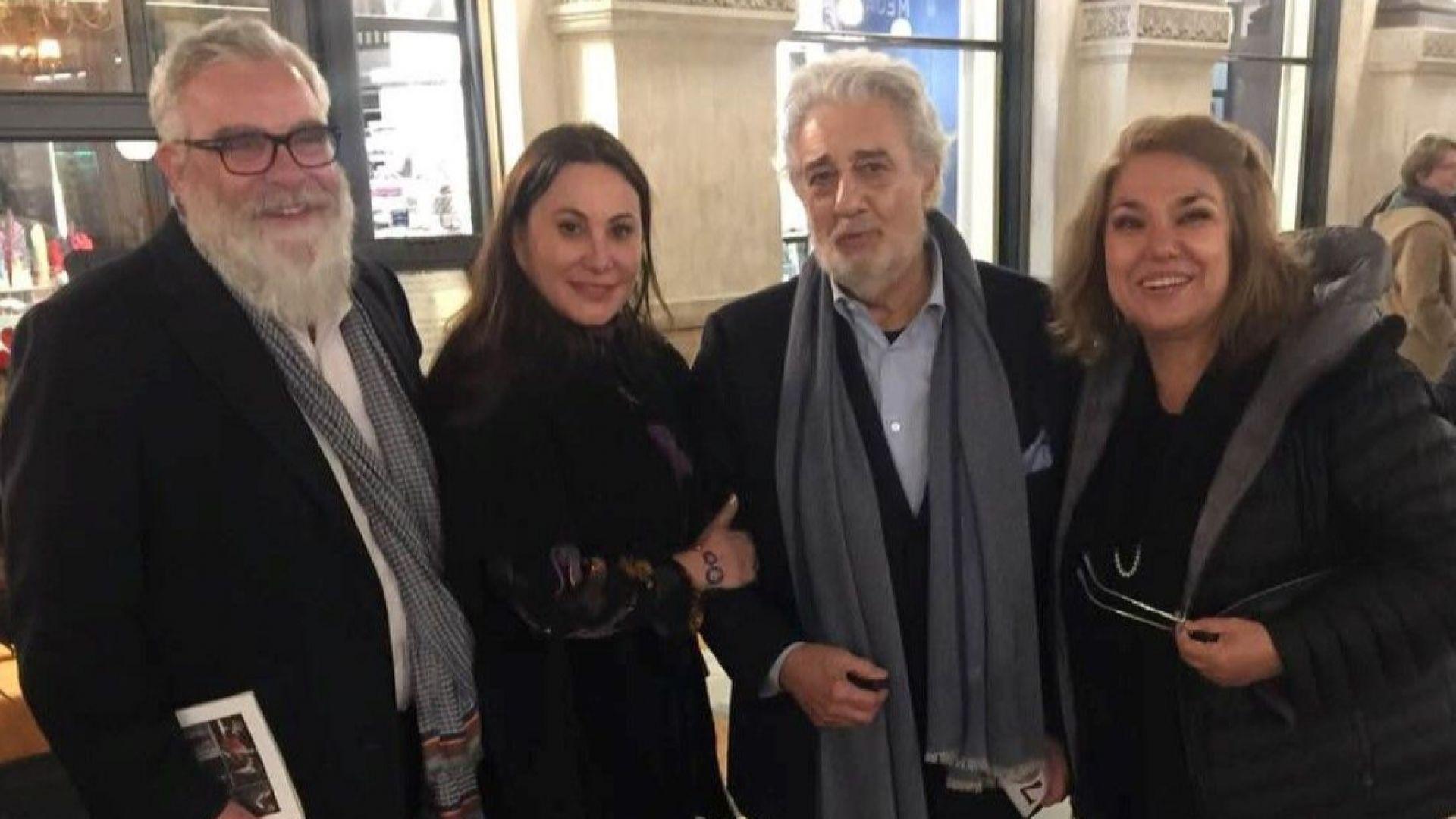 Владо Пенев и Марта Вачкова с Пласидо Доминго в Миланската скала