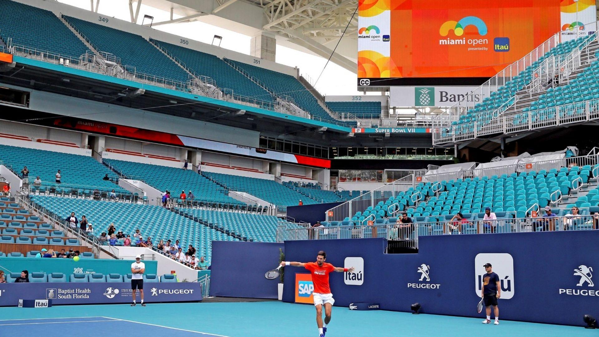 """Програмата в тениса: В Маями ще се играе, в Монте Карло, Рим и """"Ролан Гарос"""" - едва ли"""