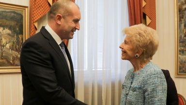 """Румен Радев се срещна с Елен Карер Д""""Анкос"""