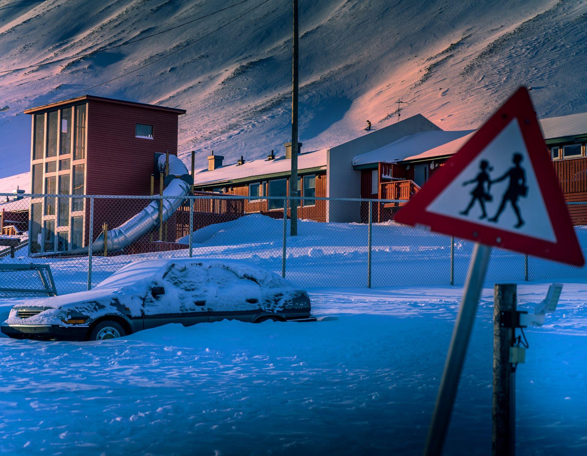 Лонгиербюен, Свалбард. Детската градина.