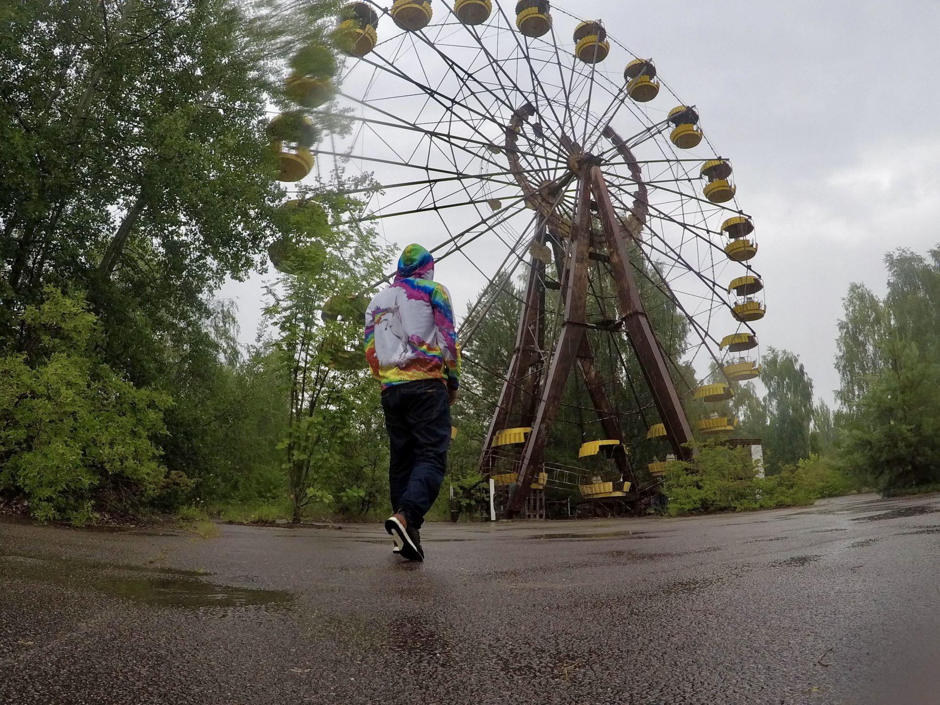 Виенското колело в центъра на Припят. Използвано само веднъж.