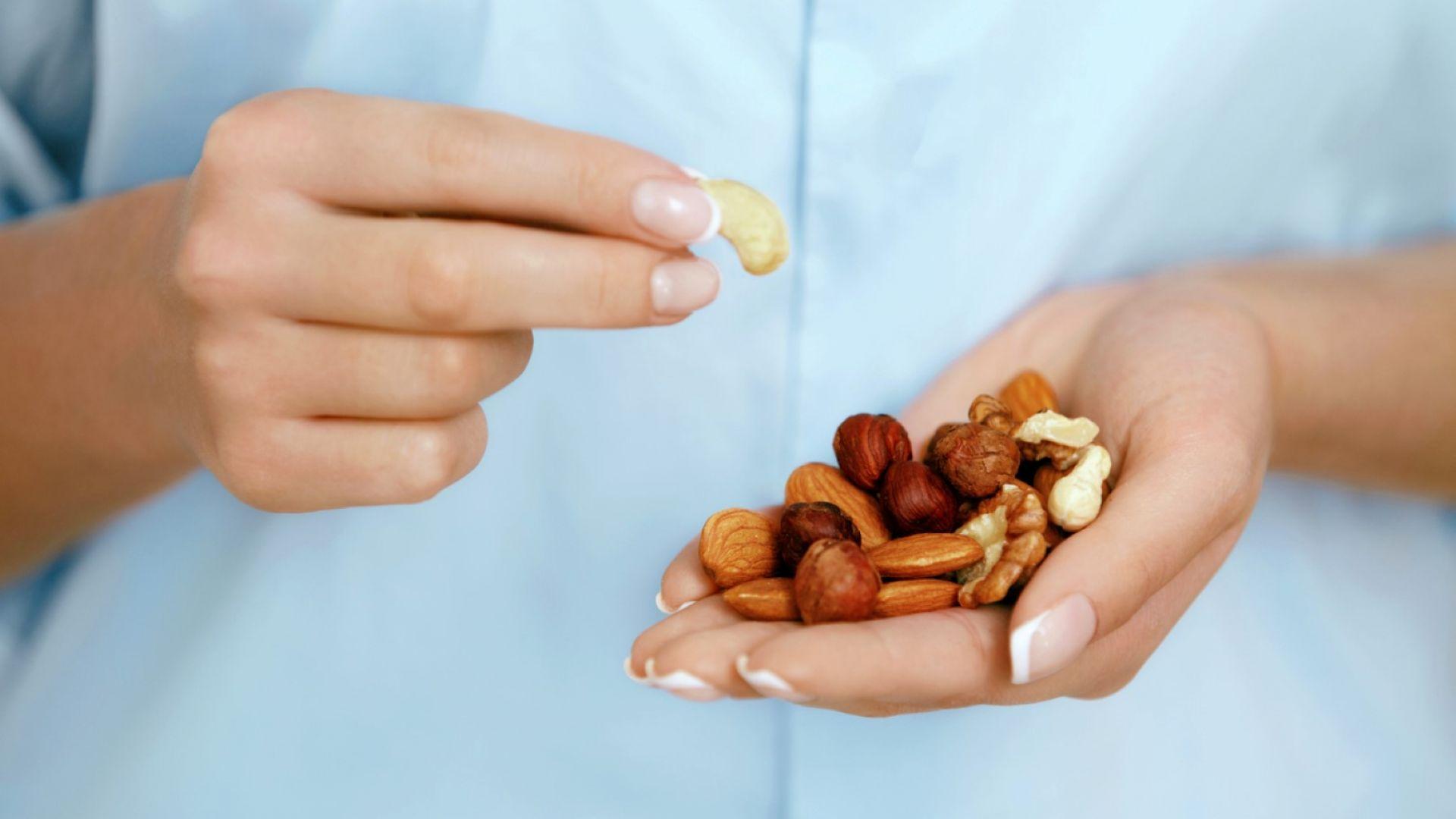 Ежедневният прием на ядки подобрява работата на мозъка с до 60%
