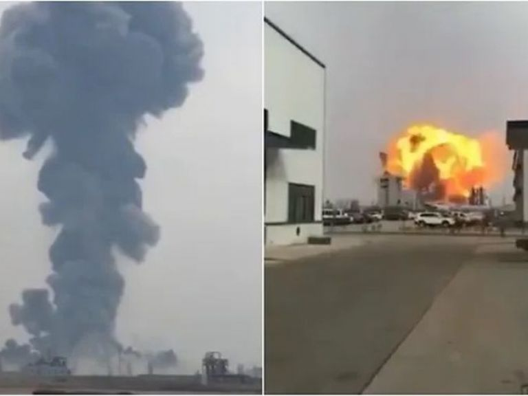 Огромен взрив в химически завод в Китай предизвика трус (видео)