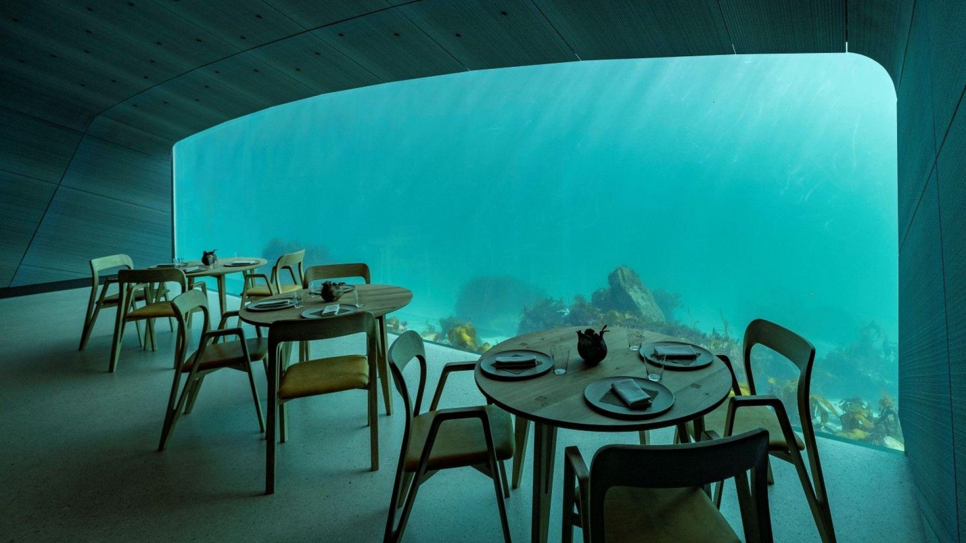 Първият подводен ресторант в Европа отваря врати