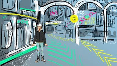 Българка с панорама на анимационна документална поредица в Сан Франциско