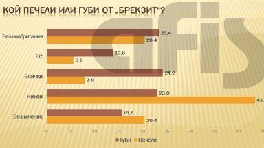 """АФИС: Според 43% от българите никой не печели от """"водевила"""" Брекзит"""