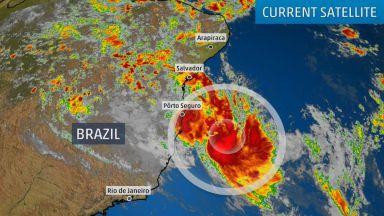 Екстремно редкият тропически циклон Иба до Бразилия