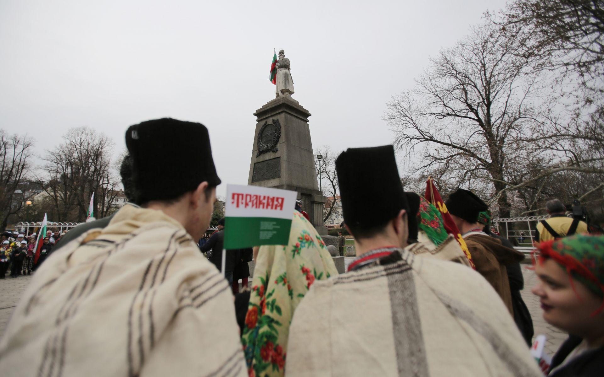 """Пред паметникът """"Одринска епопея"""" в столицата се проведе тържествено поклонение по повод Деня на Тракия и отбелязване на 106 години от Одринската епопея"""