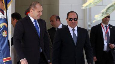 Румен Радев в Египет: Ние сме съюзници в борбата срещу тероризма