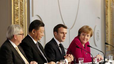 Макрон призова Китай да уважава единството на ЕС