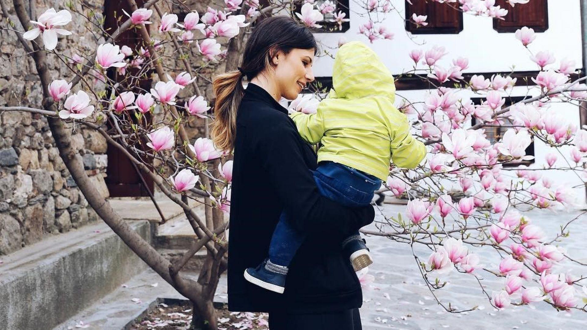 Цвети Пиронкова и Алекс се наслаждават на пролетта