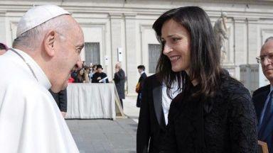 Папата прие Мария Габриел на специална церемония (видео)