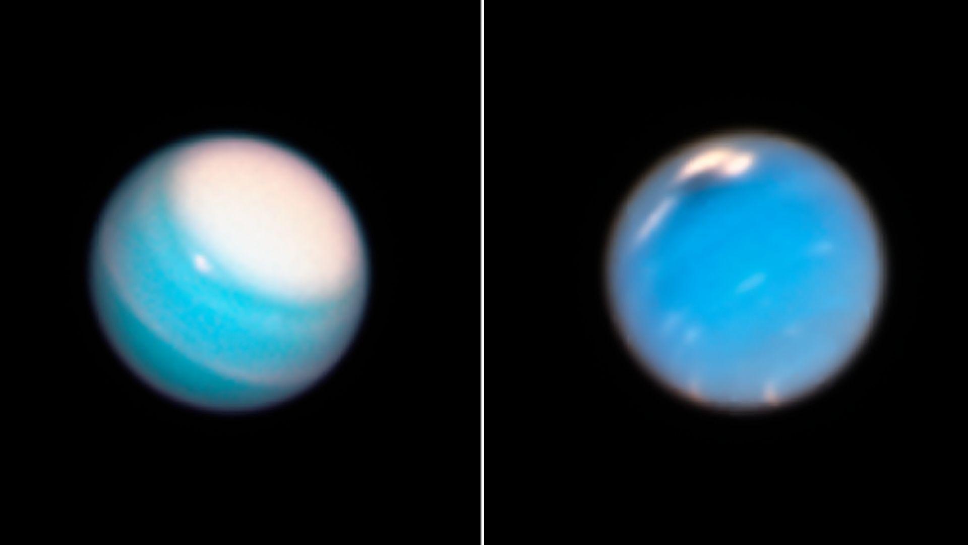 """""""Хъбъл"""" засне Голямото тъмно петно на Нептун"""