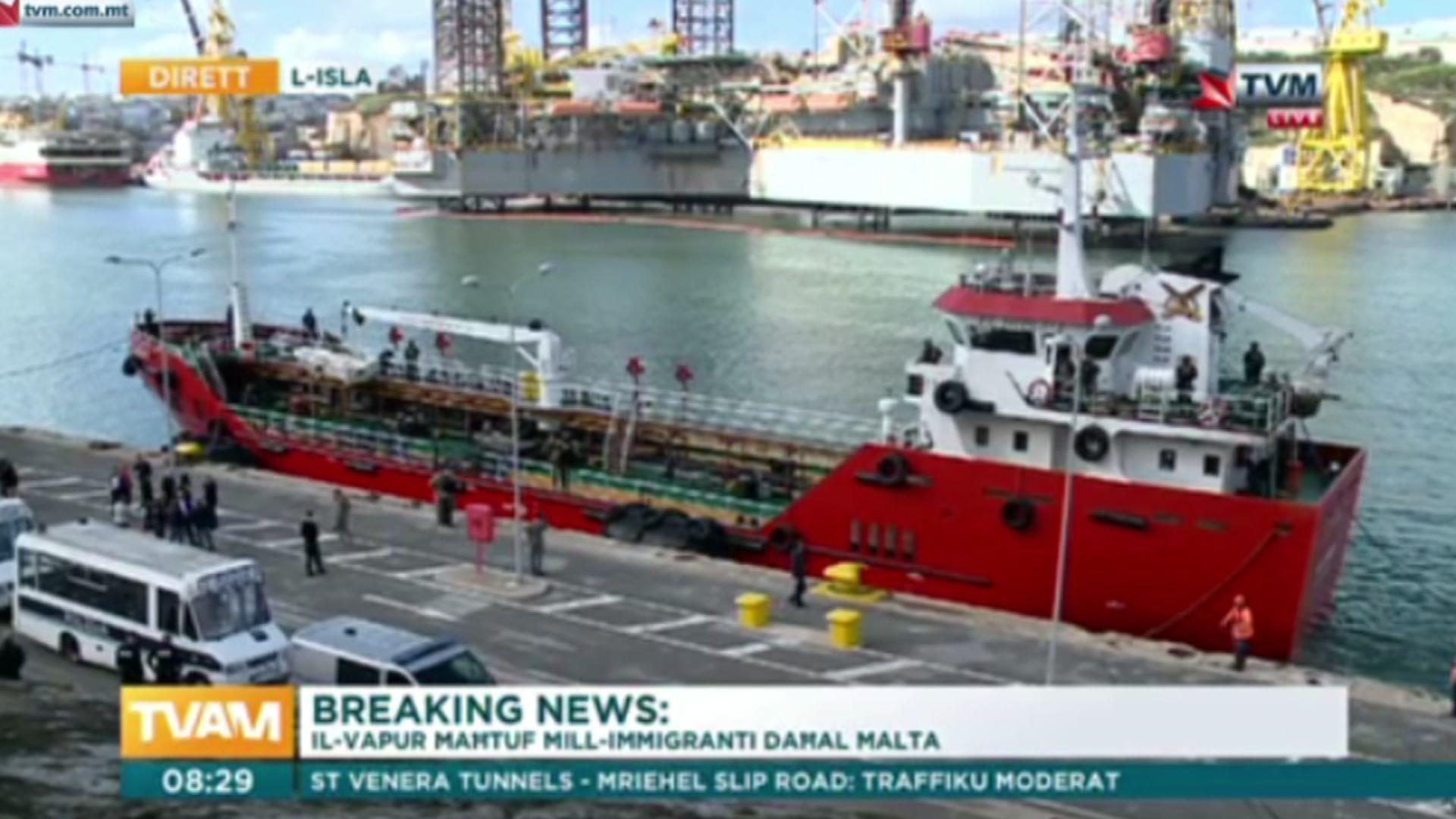 Корабът на пристанище Валета