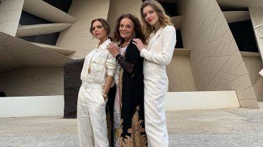Виктория, Наоми и Джони Деп на откриването на Националния музей на Катар