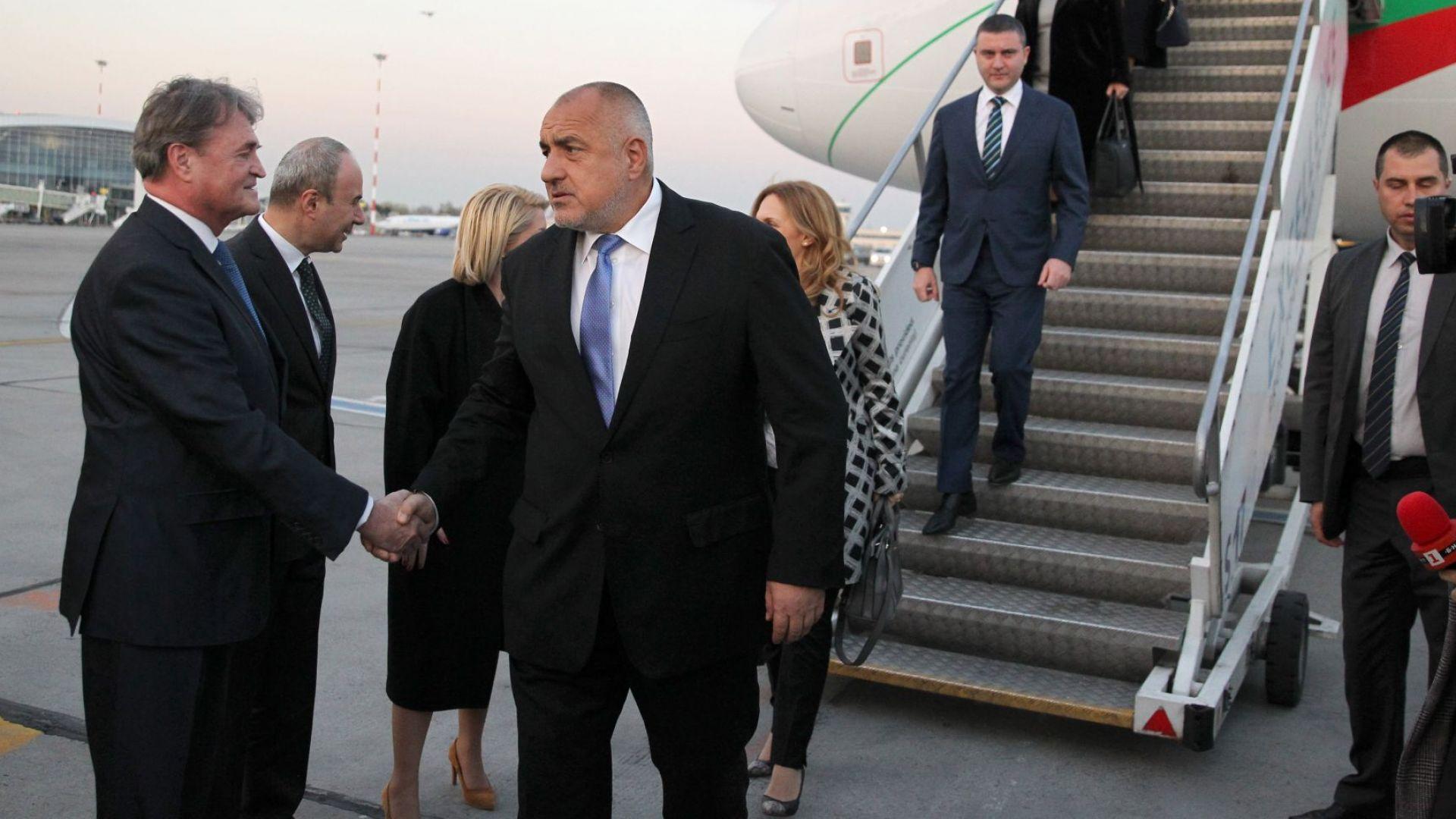 Бойко Борисов пристигна в Букурещ за Четиристранната среща на върха