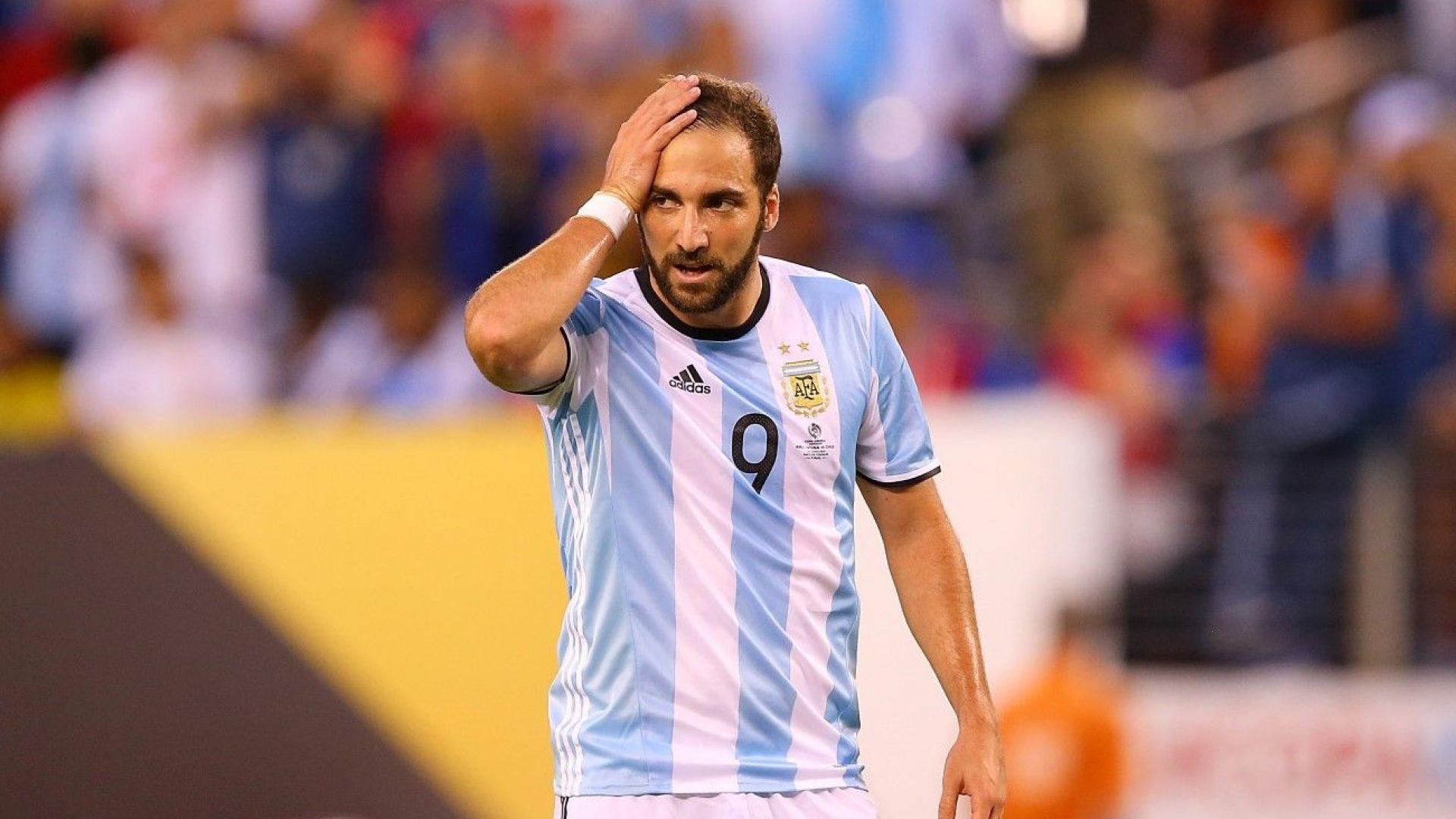 """""""Грешникът"""" Игуаин се отказа от Аржентина"""